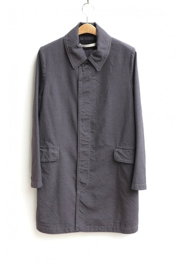 SOUTIEN COLLAR COAT – WASHABLE SUMMER WOOL PIN CHECK WASHER