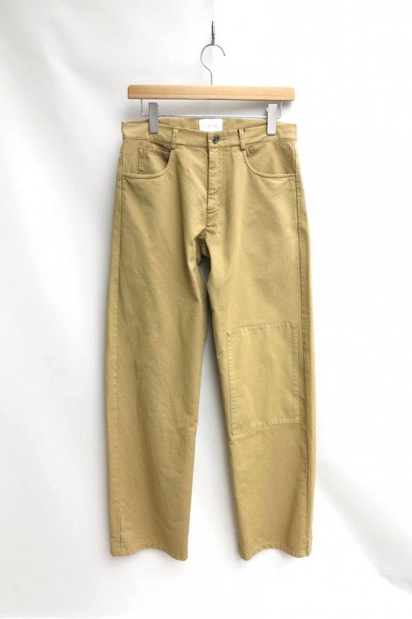 TONSURE/OVERSIZE TROUSERS WITH POCKET KNEE PATCH