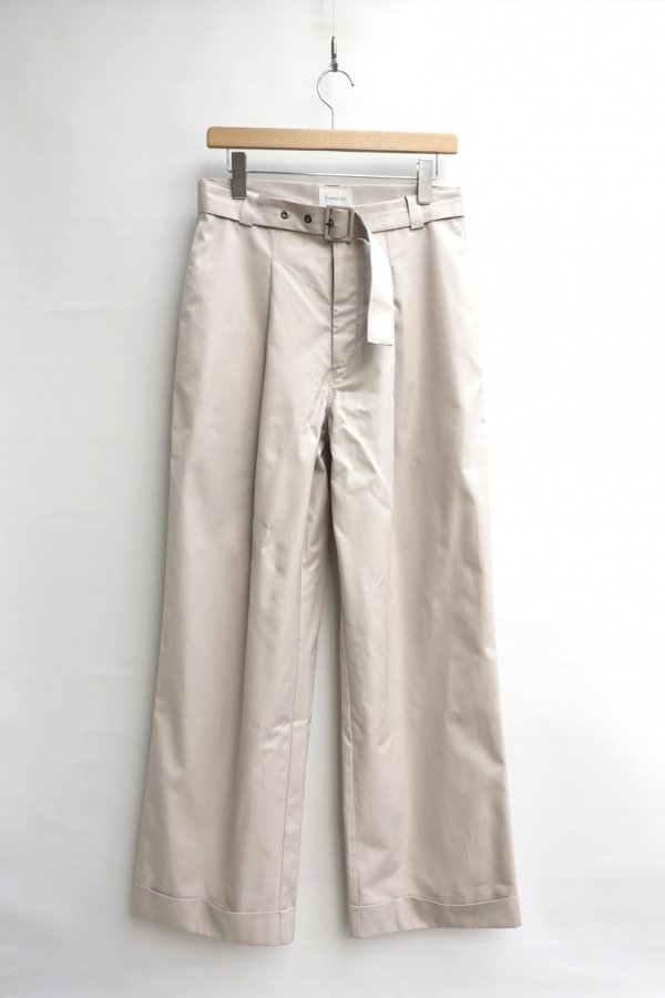 TONSURE/OVERSIZE BELTED TROUSER