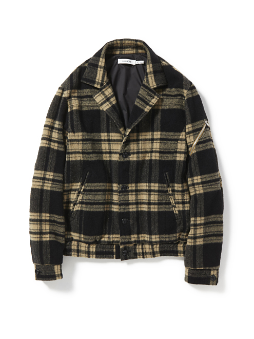 CONTRACTOR BLOUSON W/N PLAID CHECK