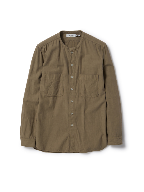 TRAVELER SHIRT COTTON BACK SATIN OVERDYED