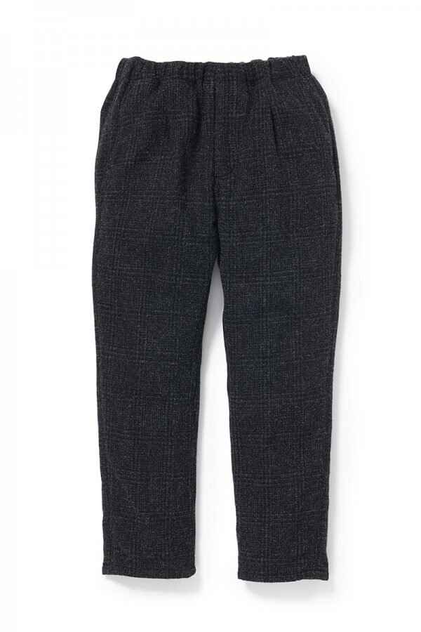 MANAGER EASY PANTS RELAX FIT WOOL GLEN PLAID