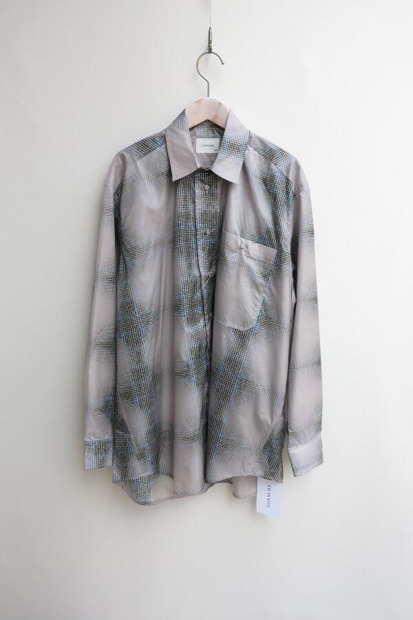 TONSURE/Oversize Shirt (Check Print)