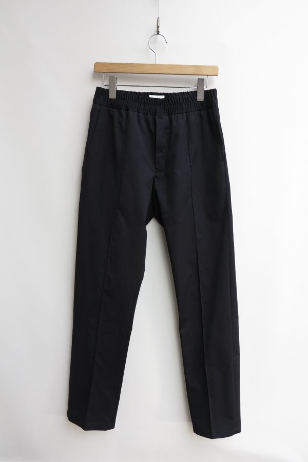 Slim Fit Trousers with Elasticated Waistband (Black)
