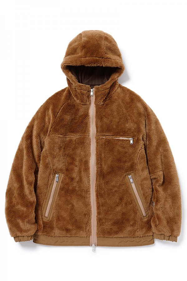 EXPLORER HOODED JACKET ACRYL HIGH PILE