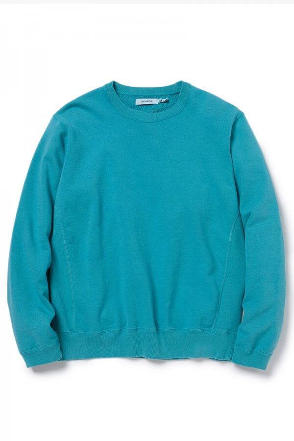 COACH CREW PULLOVER COTTON SWEAT OVERDYED