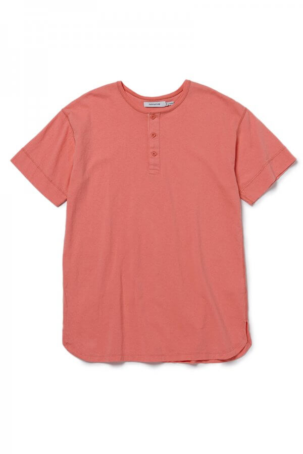 DWELLER HENLEY NECK S/S TEE COTTON JERSEY HEAVY WEIGHT