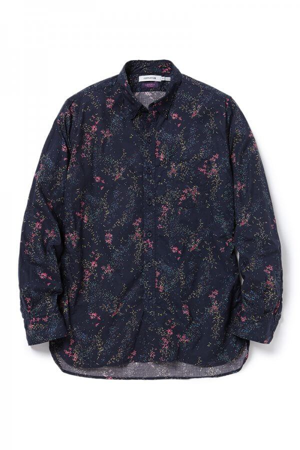 DWELLER B.D. SHIRT COTTON LAWN LIBERTY® PRINT