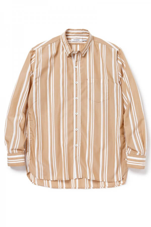 DWELLER B.D SHIRT RELAXED FIT C/T/P TUSSAH STRIPE