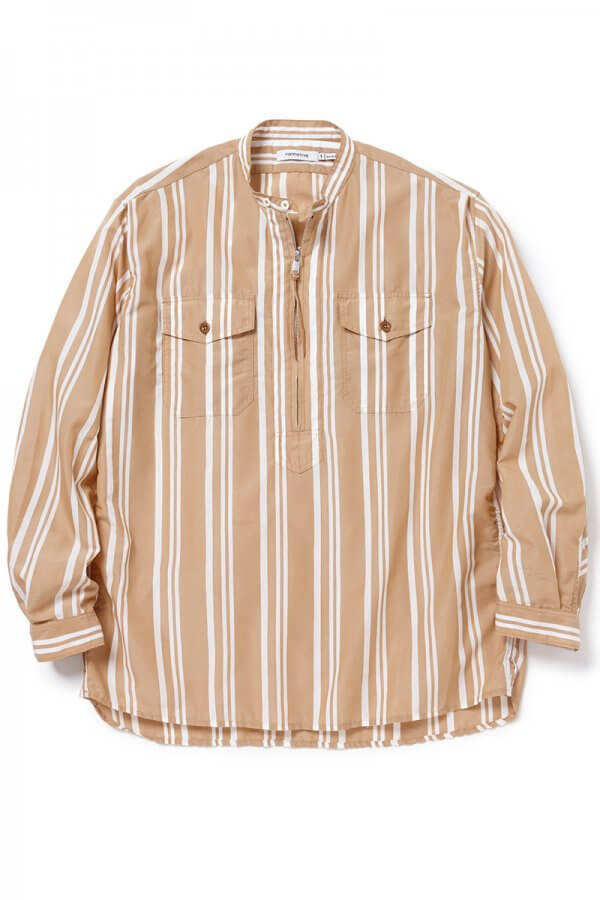WORKER PULLOVER SHIRT RELAXED FIT C/T/P TUSSAH STRIPE