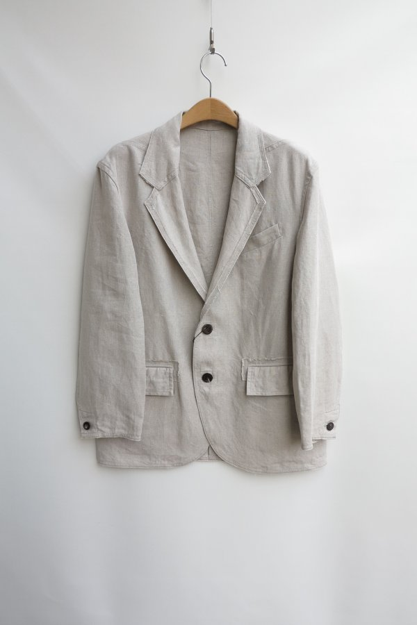 LINEN UNLINED JACKET