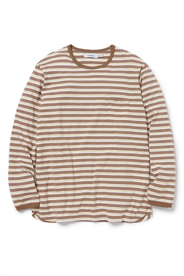 DWELLER L/S TEE COTTON JERSEY BORDER