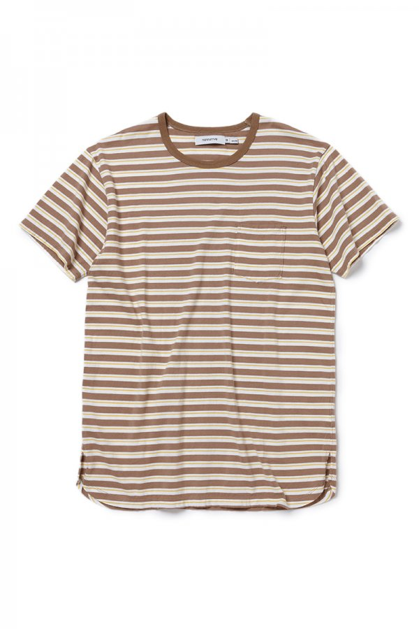 DWELLER S/S TEE COTTON JERSEY BORDER