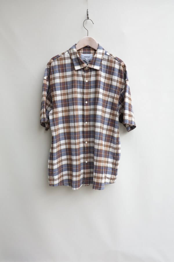 COMFORT SHIRT EXTRA WIDE S/S (CHECK)