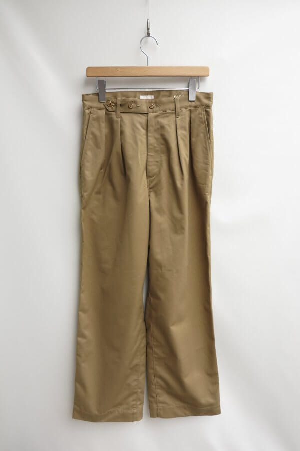 BIZEN No.1 TWILL TUCKED MILITARY PANTS