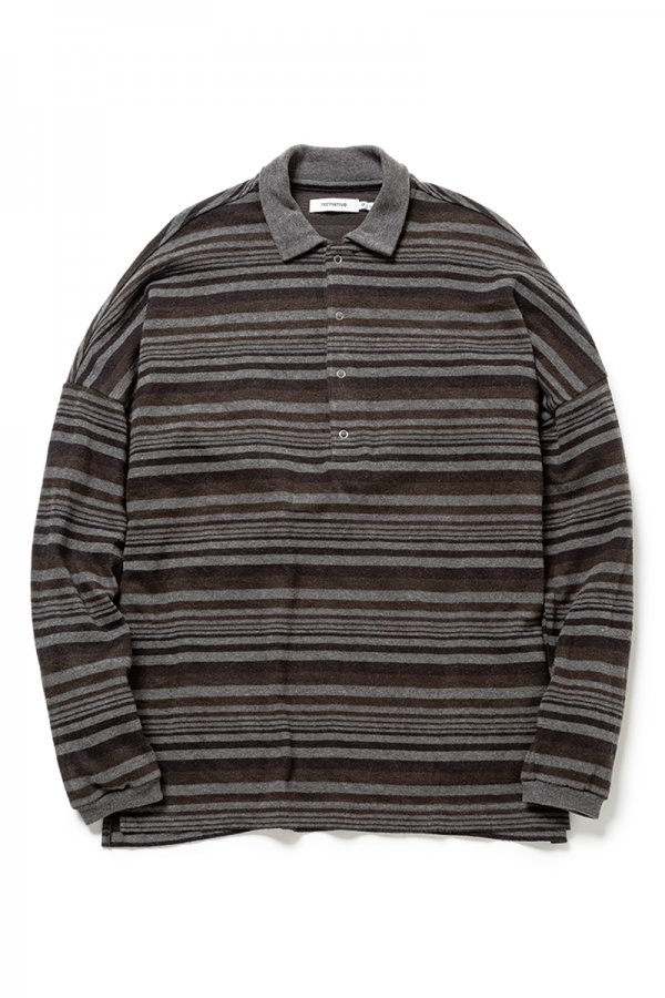 CLERK POLO L/S TEE A/R JERSEY BORDER