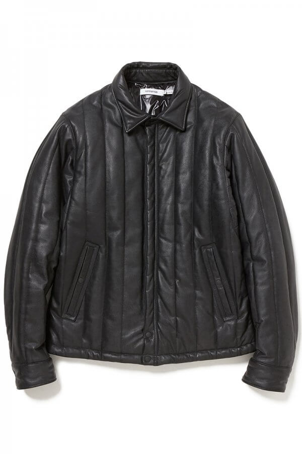 CARPENTER PUFF JACKET COW LEATHER