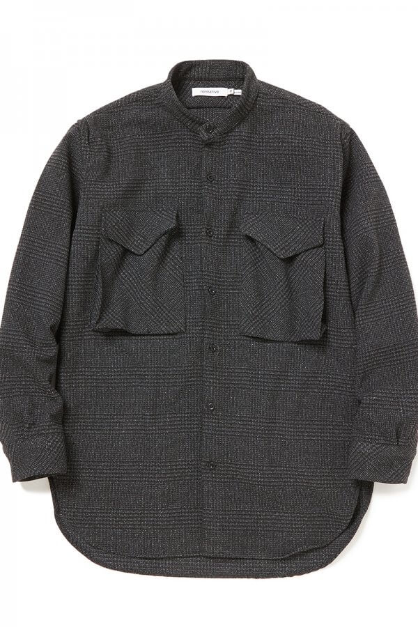 HUNTER LONG SHIRT POLY TWEED GLEN PLAID