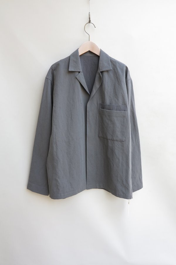 TWISTED CHAMBRAY GABARDINE OVER SHIRT
