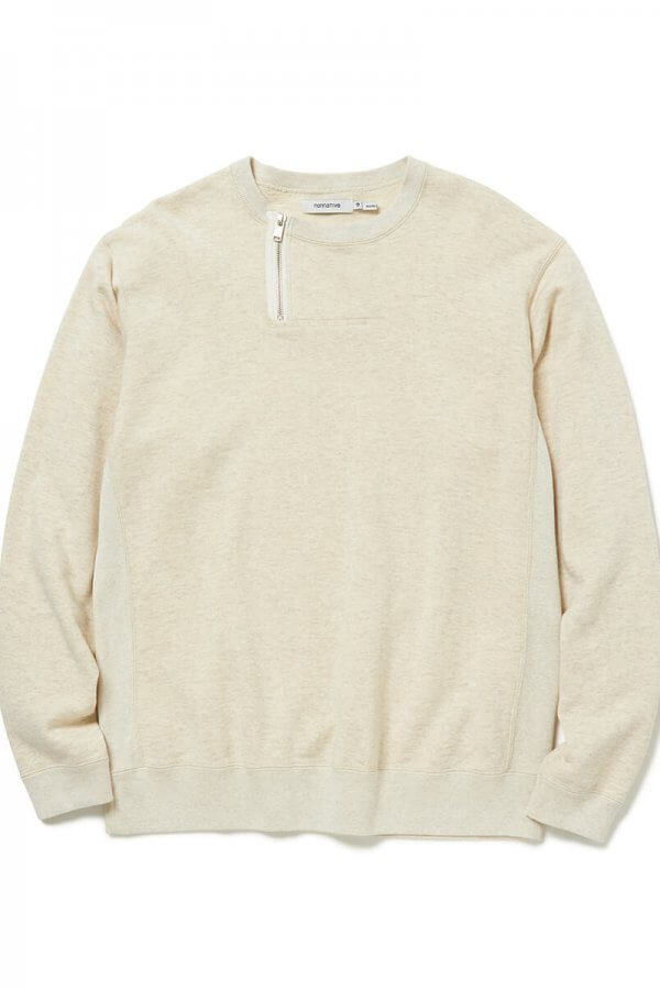 DWELLER HALF ZIP CREW COTTON SWEAT