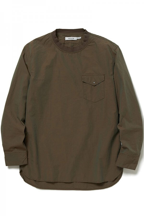 COACH PULLOVER SHIRT COTTON RIPSTOP