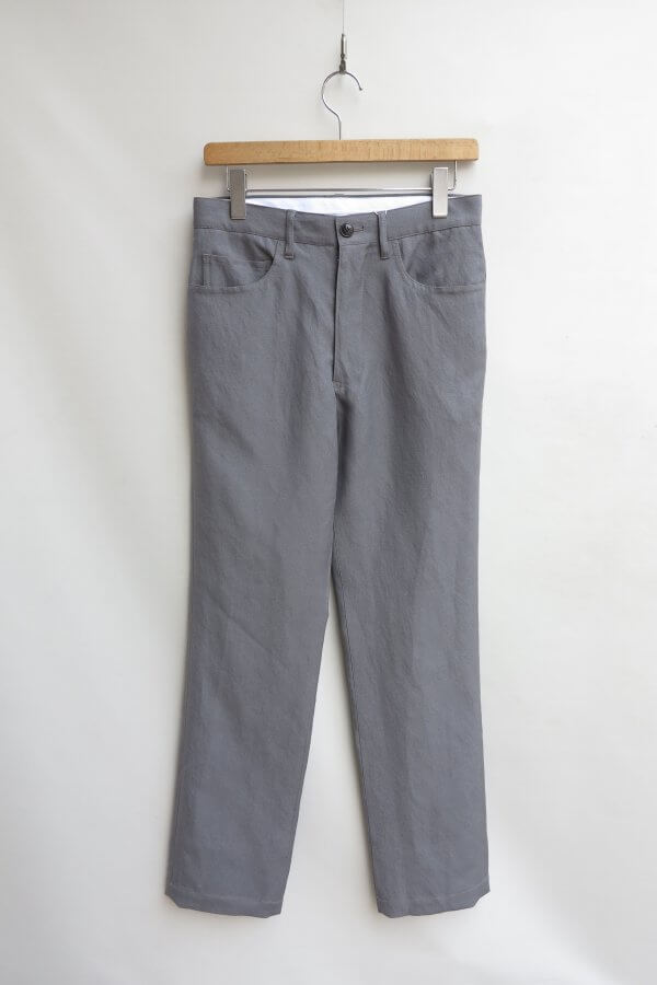 WOOL LINEN 5POCKET PANTS