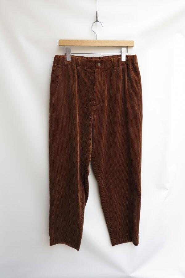 SUVIN CORDUROY EASY TAPERED PANTS