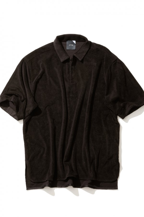 SUVIN PILE JERSEY OVERSIZED POLO SHIRT