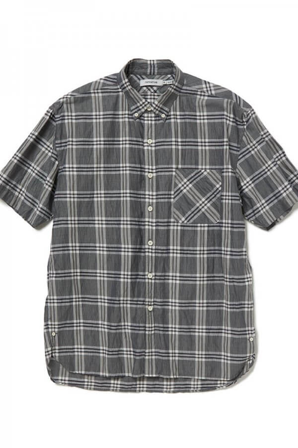 DWELLER B.D. SHIRT S/S RELAXED FIT L/C/P BROAD