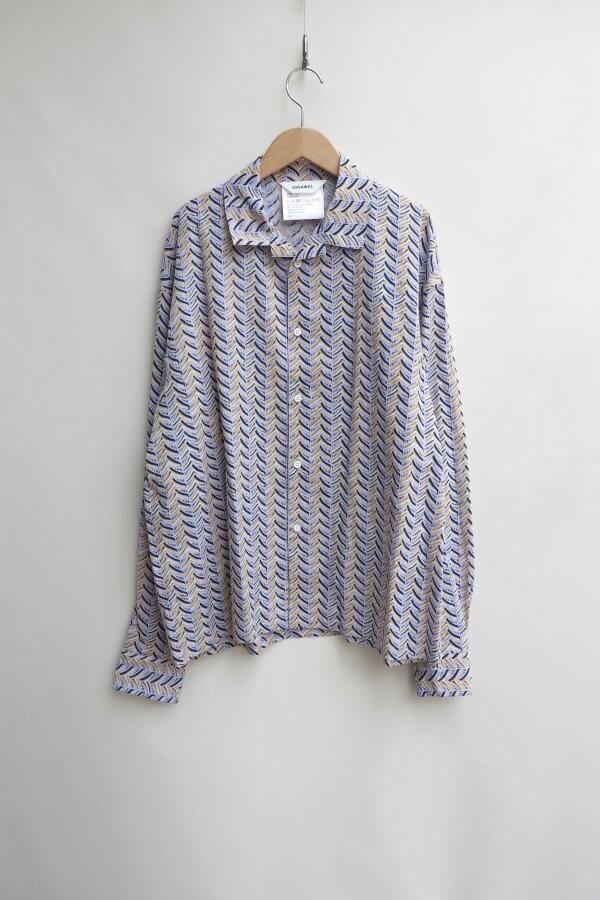 Open Collar Shirt2(Herringbone)