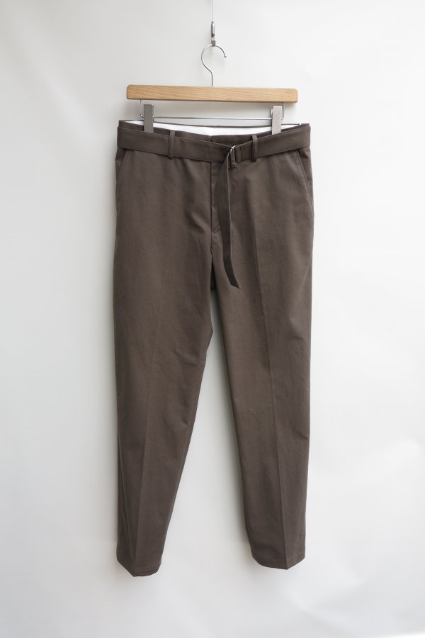 Belted No Tuck Slim Trousers