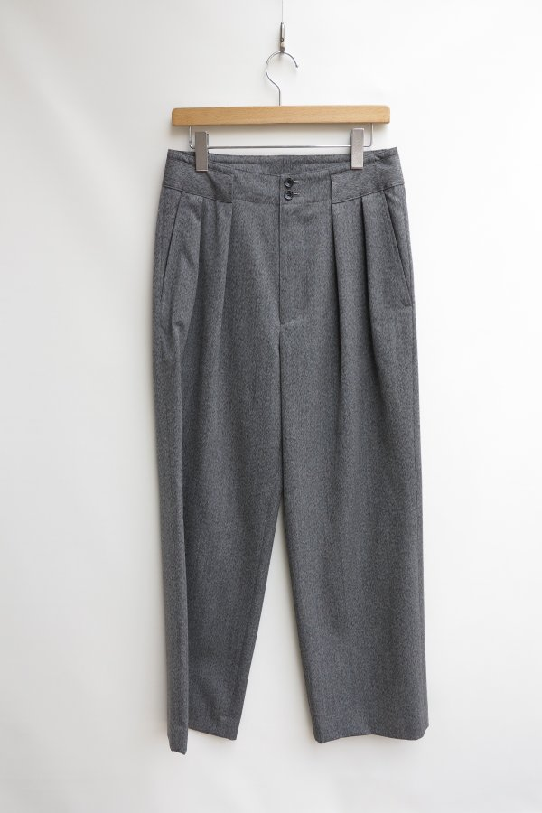 COVERT CLOTH WIDE TROUSERS