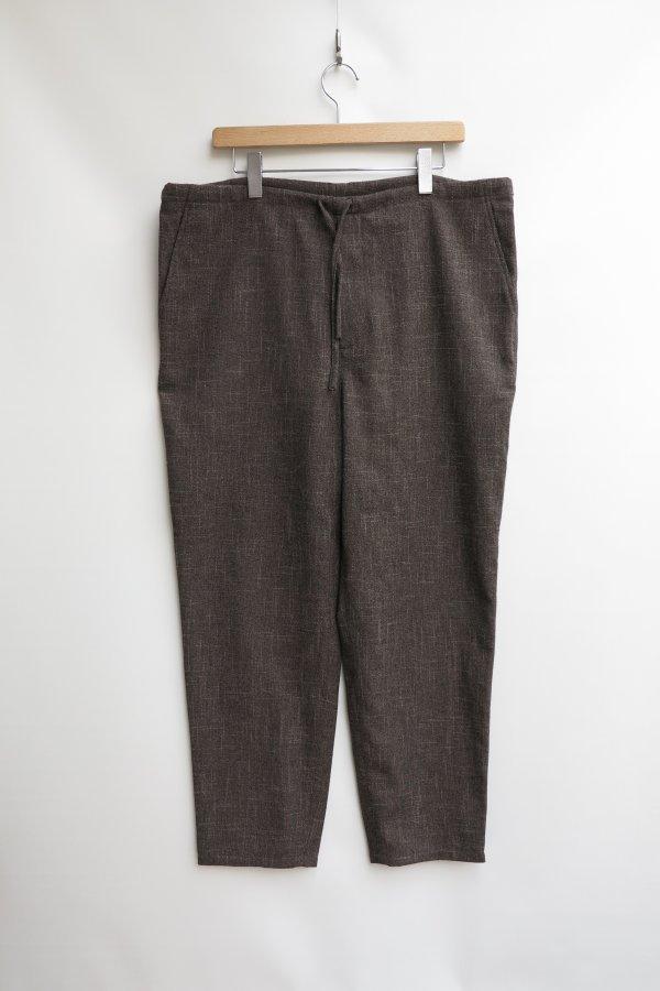 BRUSHED SLUB TWEED DRAWSTRING PANTS