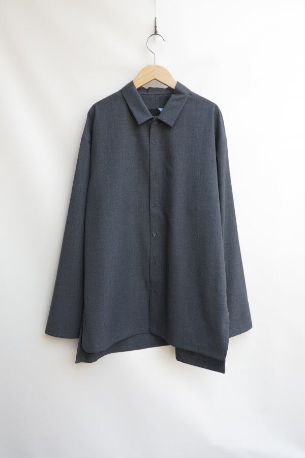 WOOL TROPICAL OVERSIZED WORK SHIRT