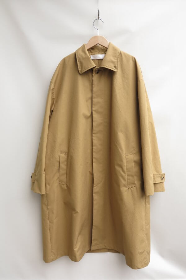 water-repellent stand fall collar coat