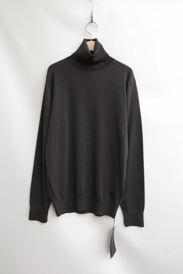 SLOW WOOL TURTLE NECK PULLOVER