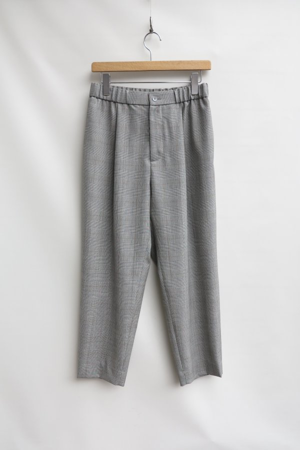 WOOL TROPICAL EASY TAPERED PANTS