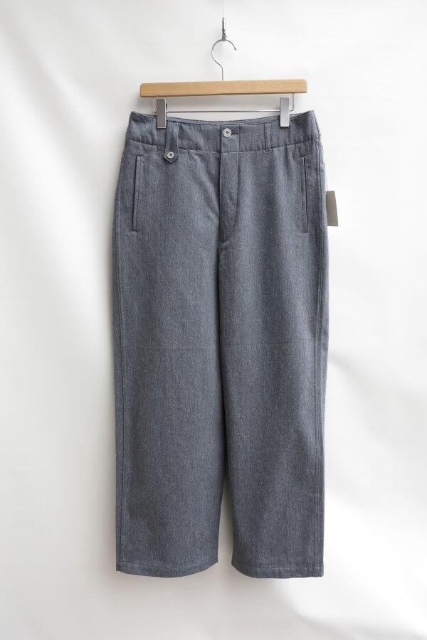 RECYCLED DENIM MILITARY WIDE TROUSERS