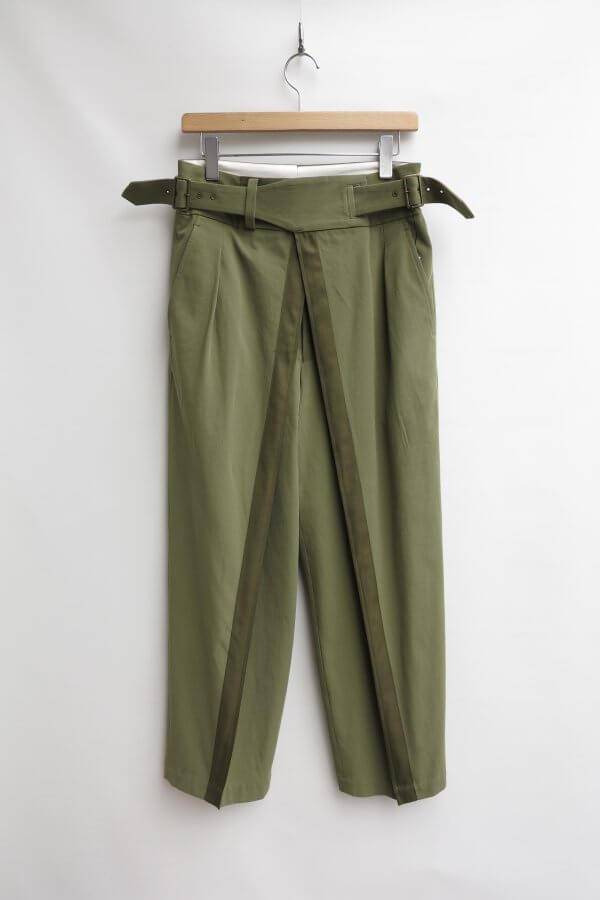 Hard Twisted Yarn Double Front Gurkha Pants