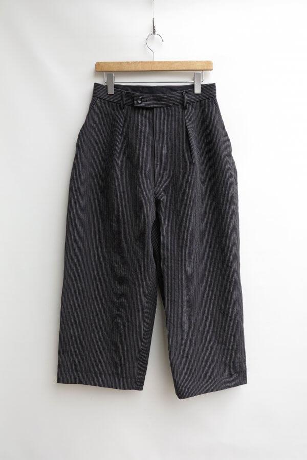 L/O Stripe Side Dirts Pocket Wide Pants