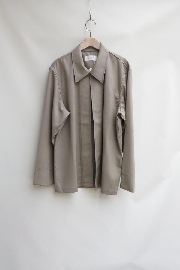 No Button Wool SH Blouson