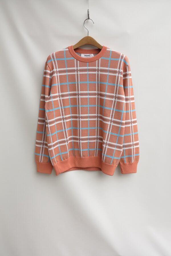 Knit&Sewn Check Sweater
