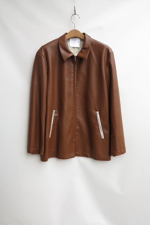 Synthetic Leather Half Coat