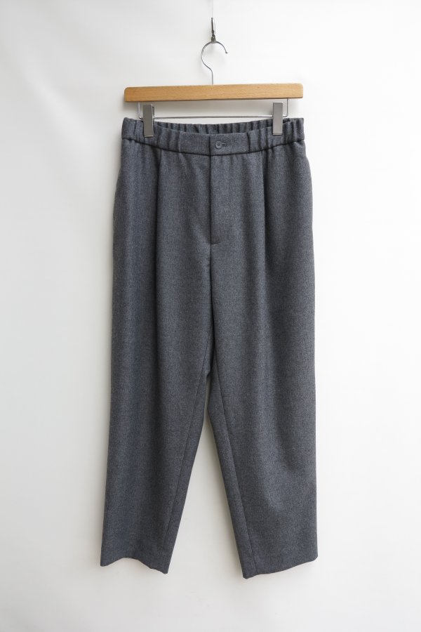 WOOL SAXONY TAPERED EASY PANTS