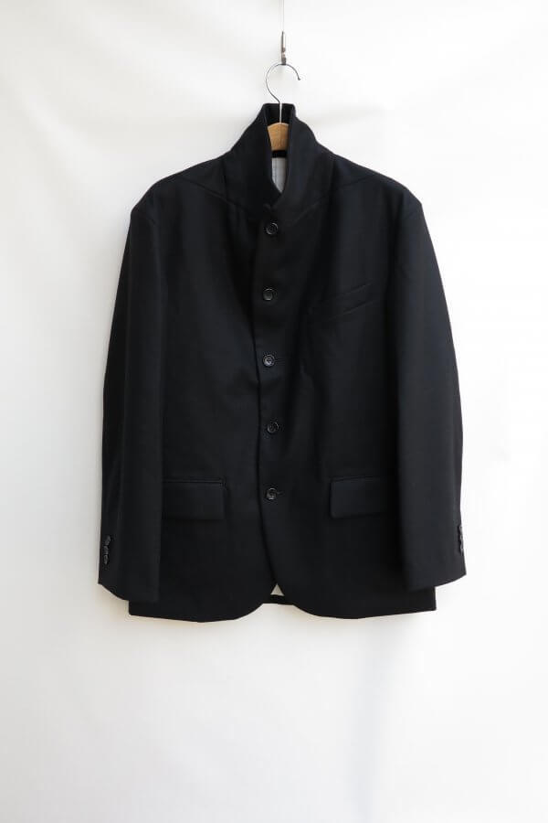 Wool Flannel Peaked Lapel Jacket